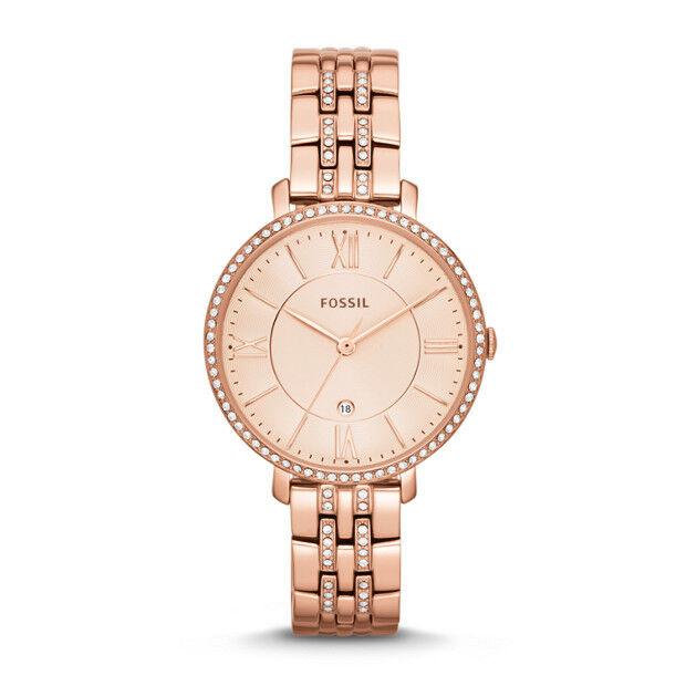 Orologio Fossil Watch ES3546 JAQUELIN Donna Swarovski Acciaio Gold Rosè Oro Rosa