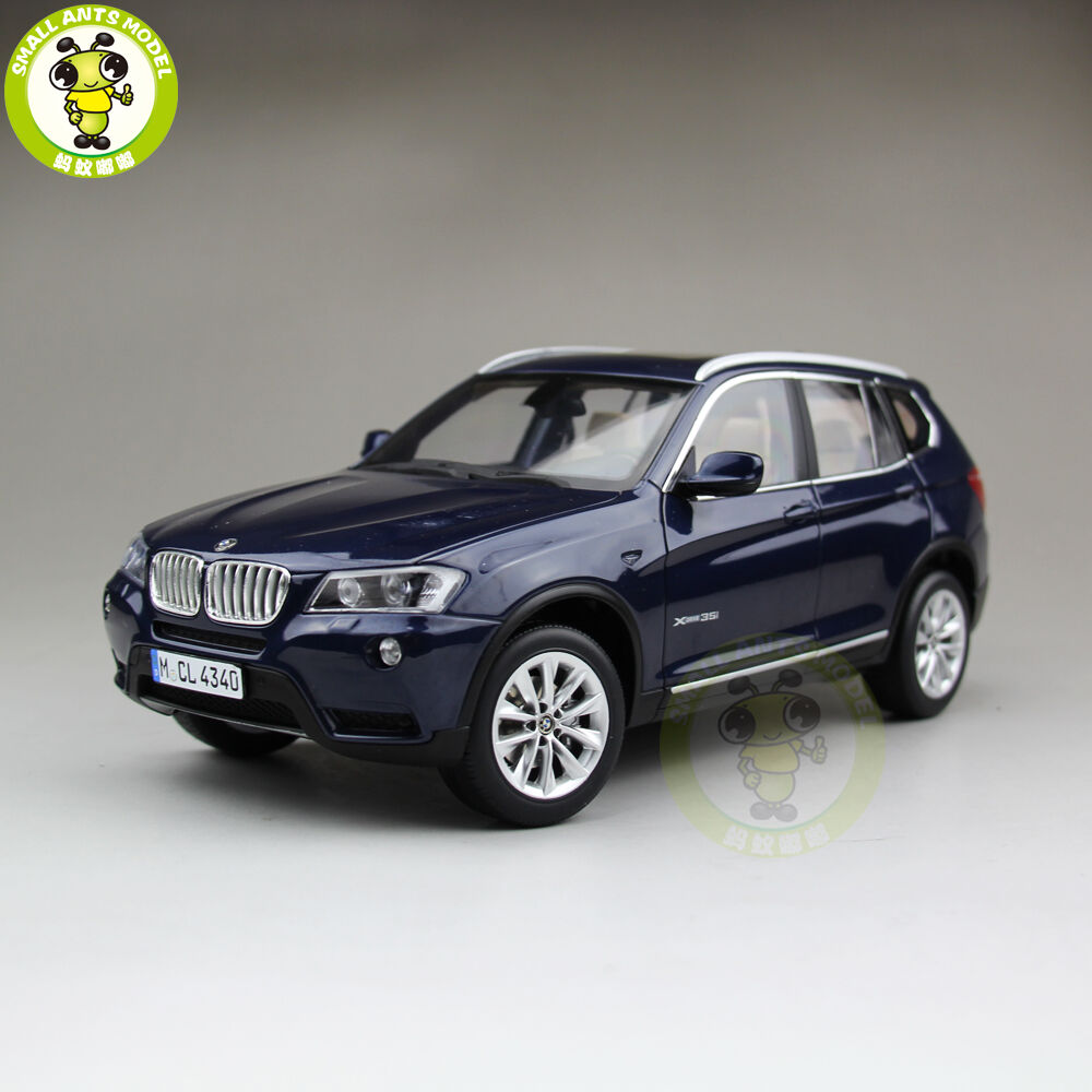 1 18 BMW X3 F25 xDrive 35i RMZ modello Diecast modello auto SUV blu