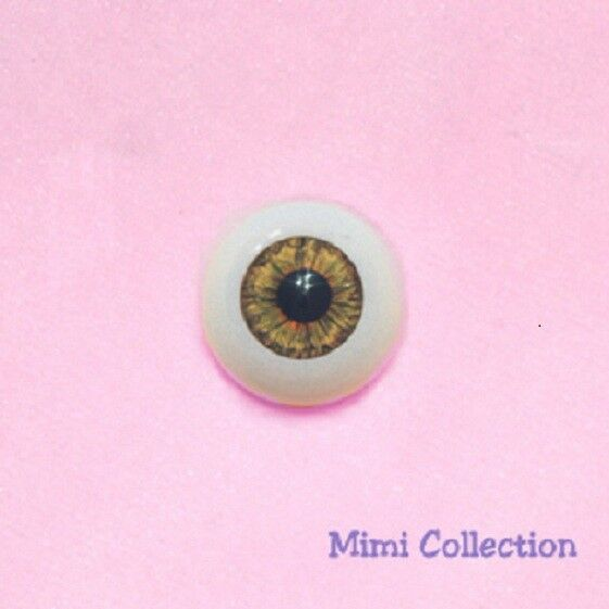 YELLOW HALF Round Mimiwoo 1//6 BJD Doll Acrylic Eye 12mm