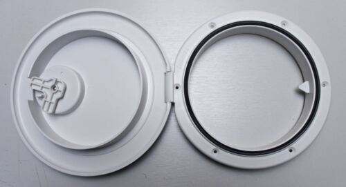 inspection round hatch 280mm White caravan access Nuova Rade hinged boat
