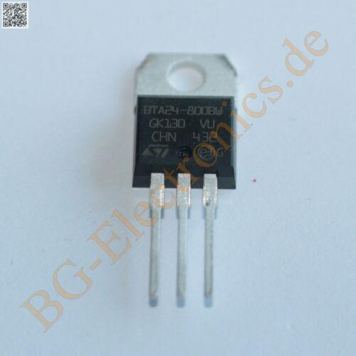 1 x BTA24-800BW TRIAC BTA24800BW STM TO-220 1pcs
