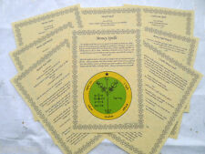 13 Money Spells BOOK OF SHADOWS PAGE SET wicca print parchment spell wealth BOS