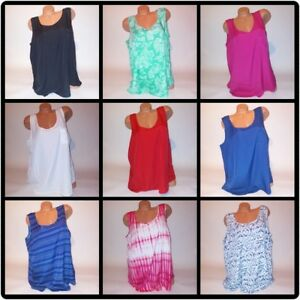 Faded-Glory-Womens-Tank-Top-Solid-Blouse-Shirt-Sleeveless