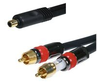 6 Inch 1 Female Jack To 2 Male Plugs Rca Audio Cable Splitter Y Adapter 1/2 Ft