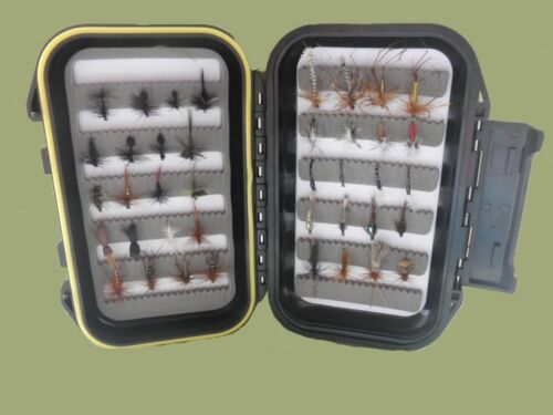 Suitable for Summer Fly Fishing BOX7 40 Boxed Trout Flies Mixed Hook SUMMER