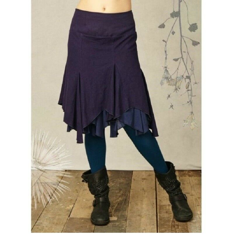 Thought Braintree Hemp Skirt Winona Aubergine Purple wwb1593 Balloon