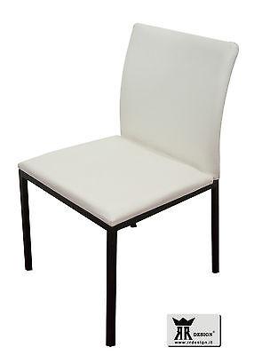 Sedia moderna in ecopelle NORA RR DESIGN molto bella per cucina e soggiorno E40 | eBay