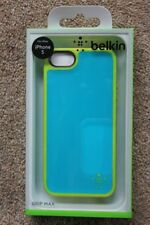 Belkin iPhone 5S 5 & iPhone SE GRIP MAX Shock Proof Case/Cover/Skin Blue Yellow