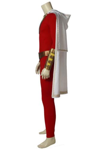 New Arrival Superhero Billy Batson Shazam Cosplay Costume Halloween Outfit Set