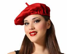 Baskenmütze Barett Mütze Franzose schwarz Franzosenmütze Franzosenhut Hut Kostüm