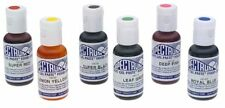 Ateco Food Coloring Kit Gel Color Cake Frosting Black Blue Yellow Green Pink Red