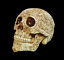 thumbnail 3 - Unique-Engraved-Floral-Realistic-Life-Size-HUMAN-SKULL-Resin-Model-Decorated-Art
