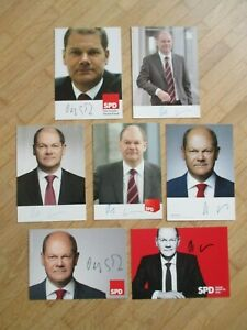 7 x Bürgermeister & Bundesminister SPD Olaf Scholz - rares Autogramm!!!