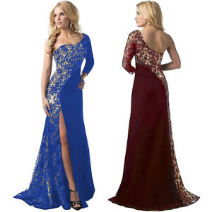 Image is loading Womens-Ladies-Formal-Ball-Gown-Long-Dress-Wedding- f6f953aad