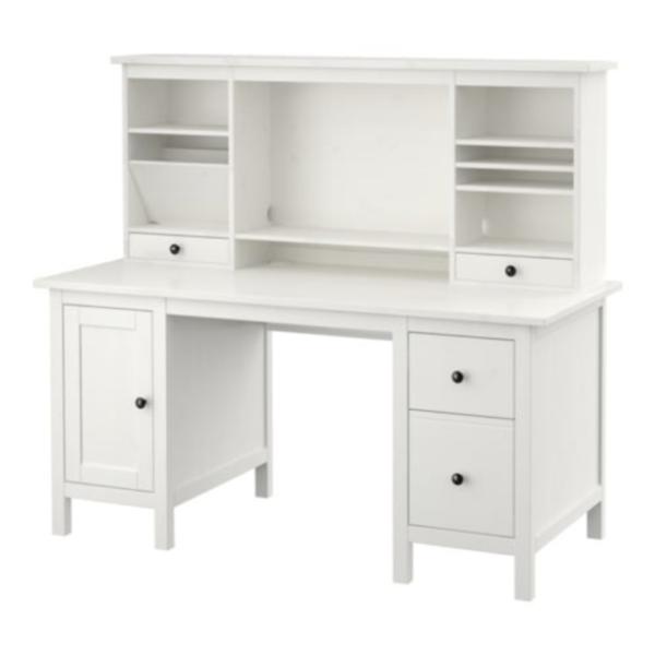 Ikea Hemnes Desk With Add On Unit White, Ikea Hemnes Secretary Desk