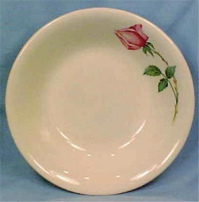 Bermuda Rose Fruit Dessert Bowl Canonsburg Pottery Vintage Retro Mid Century
