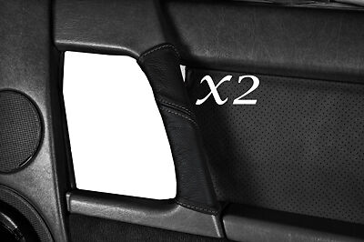 GREY STITCH FITS MERCEDES SL CLASS R129 1989-1995 2X DOOR HANDLE LEATHER COVERS