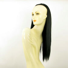 DT Half wig HairPiece extensions long straigh black 23.6  REF :14/1b
