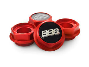 BBS RS RC Hex Nuts RED Center Caps 15 16 17 18 19 Inch Large Thread 2.76in Vw