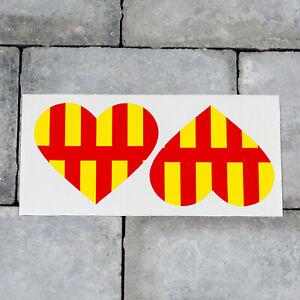 car van decal sticker 2 x CORNWALL HEART ENGLISH Flag Car Tuning ...
