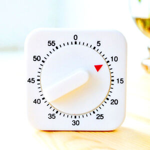 Details about 60 Minutes Kitchen Timer 1 Hour Hand Winder Mechanical Mount  Plastic_ Clock Wall