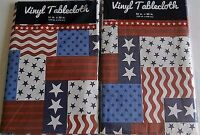 Patriotic Vinyl Tablecloths Assorted Sizes Stars And Stripes