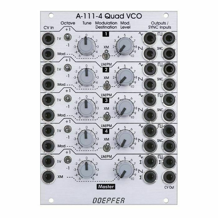 Doepfer A-111-4 Quad Präzision VCO Modul
