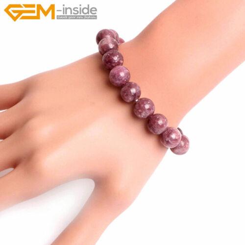 "Unisex Lot Natural Gemstones Beaded Healing Reiki Stretchy Bracelet Bangle 7/"""