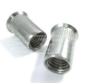 Details about COUNTERSUNK RIVNUTS A2 STAINLESS STEEL KNURLED RIVET NUTS M4  M5 M6 M8 M10