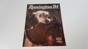 Vintage Remington '84 Sporting Firearms + Amminition Catalog Hunting Dog  S8