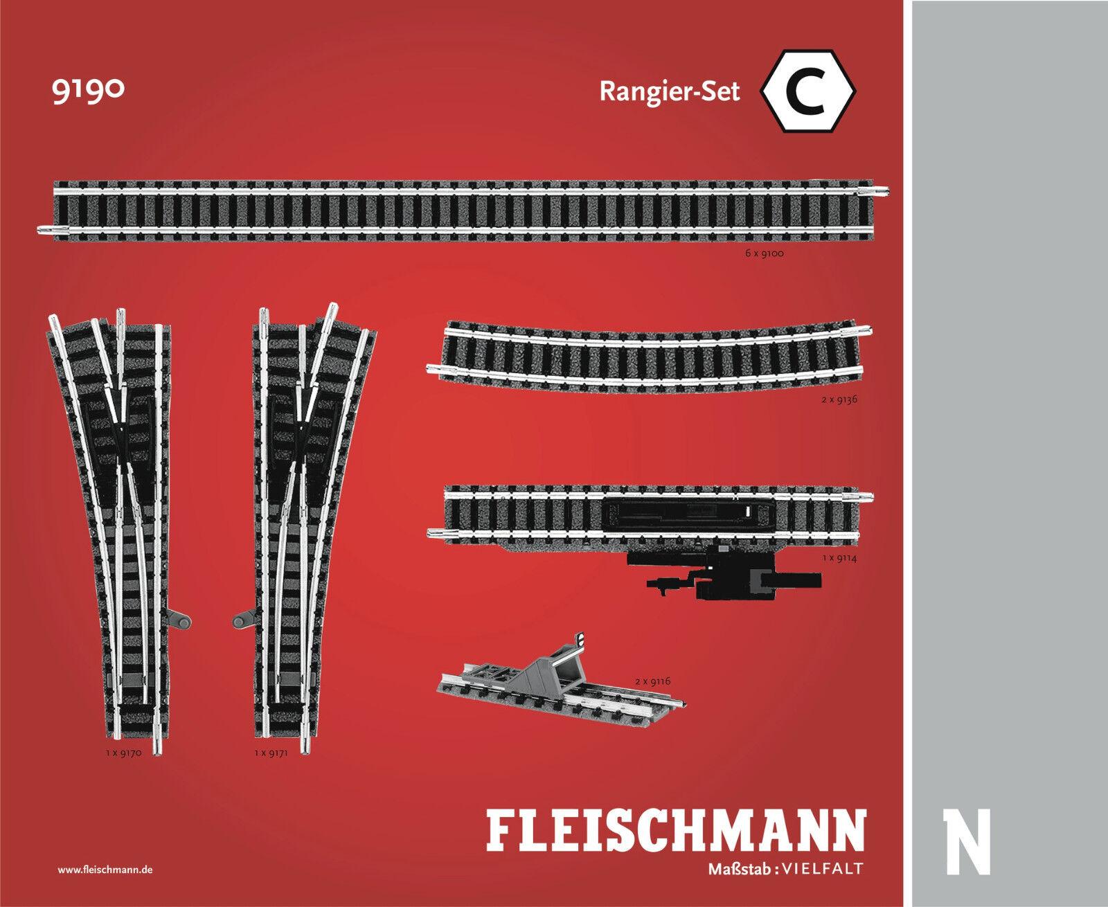Fleischmann n 9190 maniobra-set C-nuevo + embalaje original