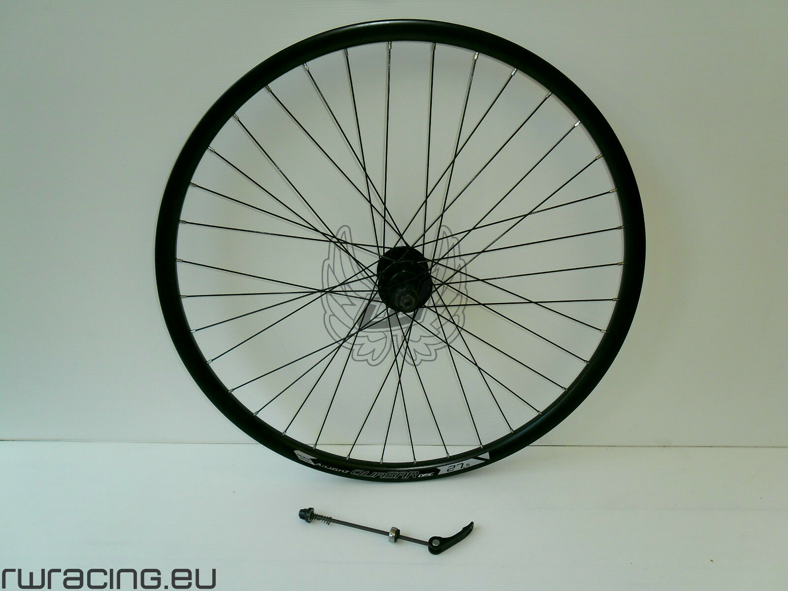 Ruota posteriore nera Quasar 27.5 per bici / mtb a disco / 27 mtb rear wheel
