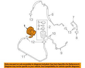chevrolet gm oem 04 06 aveo power steering pump 96535224 ebayimage is loading chevrolet gm oem 04 06 aveo power steering