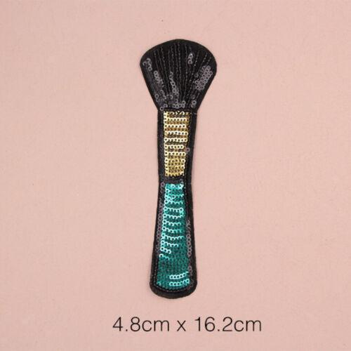 5er Lippenstift Aufnäher Bügelbild Aufbügler Iron on Patches Applikation