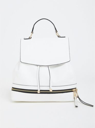 Faux Convertible Leather White Bag Nwt hQrtdCs