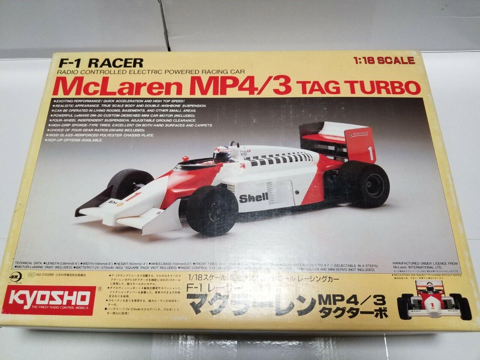 KYOSHO 1 18 Radio Control Car MCLAREN MP4 3 TAG TURBO