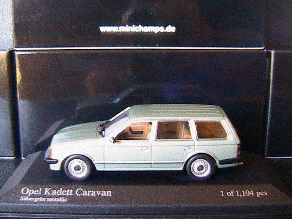OPEL KADETT D CARAVAN 1.3 1979 vert METALLIC MINICHAMPS 400 044111 1 43 GRUN