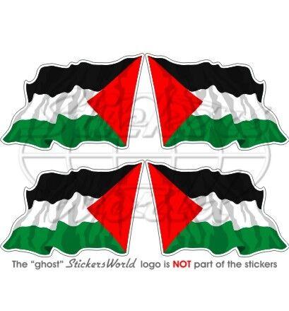 PALESTINE Vol Drapeau Palestinien Etat 50mm Vinyle Autocollants Stickers x4