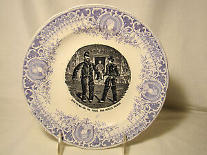 image is loading pexonne faience fine two color napoleon military plate - Faience Colore