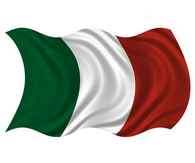 "Italy Waving Flag Italian Italia Wall Art Car Vinyl Bumper Sticker Decal 6"""