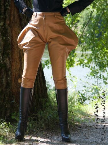 Pantaloni Pantaloni di equitazione Camel da Made pelle to Pantaloni pelle Order di qr6rTXg
