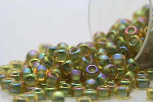 Miyuki Round Rocailles 8//0 Luminous Green Luster AB Seed Beads RR-359