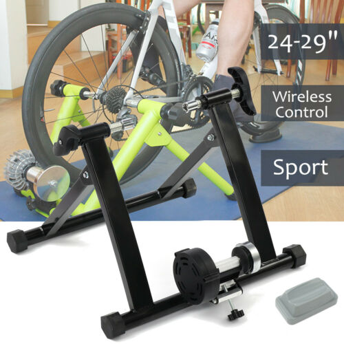 Exercise Bike Stand Indoor Bicycle Cycling Trainer 24-29 Inch Wireless Black