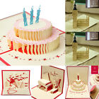 Birthday Wedding 3D Pop Up Card Kraft Paper Greeting Cards Magic Fairy Blank Hot