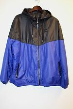 Nike Sportswear NSW Mens Black/Blue/Check Reversible Windbreaker Jacket Size XXL