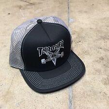 Thrasher Skate Goat Embroidered Black/Grey Trucker Hat Skate Skater Santa Cruz