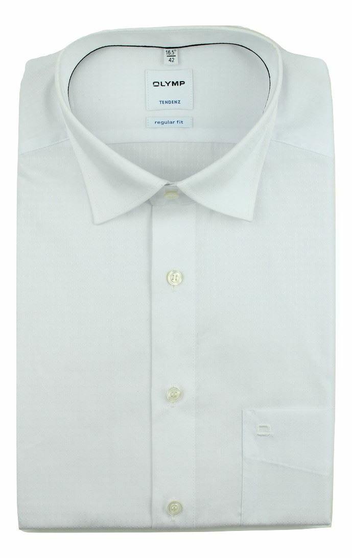 White Dobby Textured Spread Collar