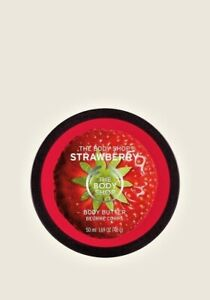 The Body Shop-Strawberry-Softening Body Butter-Normal/Dry Skin-Vegetarian-50ml