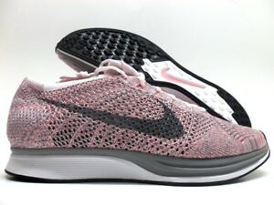 buy popular 843d9 00246 Image is loading NIKE-FLYKNIT-RACER-PEARL-PINK-COOL-GREY-SIZE-