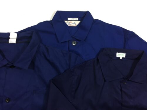VINTAGE French EU Worker CHORE Work Jackets - Blue
